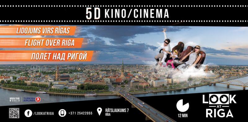 """Jauna vieta, jauns kinoteātris, jauna 5D filma """"Look at Riga"""""""