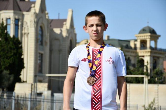 Latvijas sportisti Eiropas Jaunatnes olimpiādi sāk ar bronzas medaļu