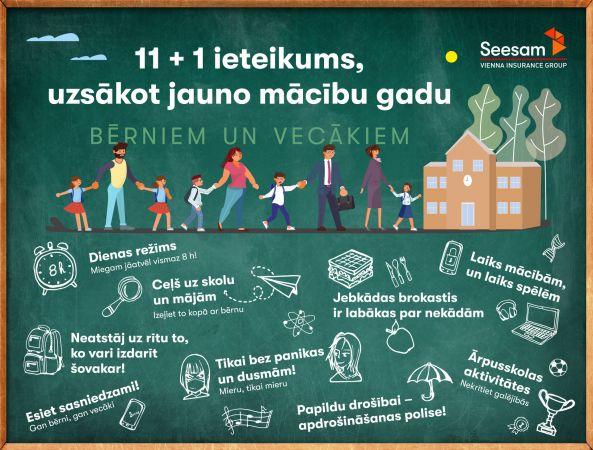 11 + 1 ieteikums bērniem un vecākiem, uzsākot jauno mācību gadu