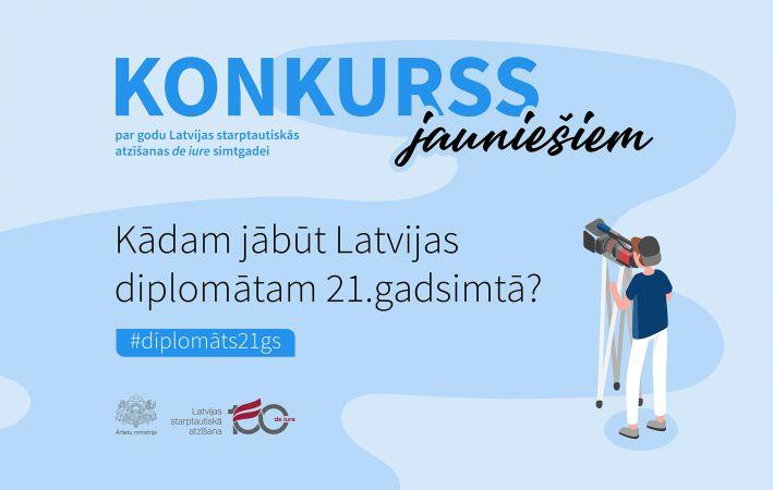 """Latvijas starptautiskās atzīšanas """"de iure"""" simtgadei veltīts konkurss jauniešiem"""