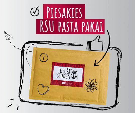 Iepazīt savu augstskolu: RSU aicina studētgribētājus pieteikties pasta pakai