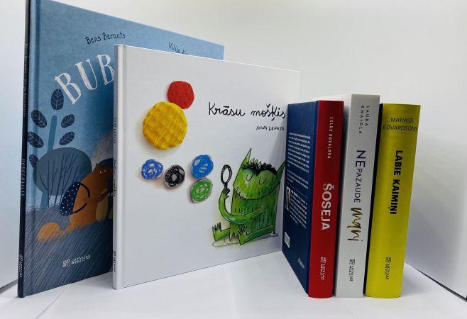 """Grāmatas, kuras izvēlas """"Bērnu, jauniešu un vecāku žūrija 2020"""""""