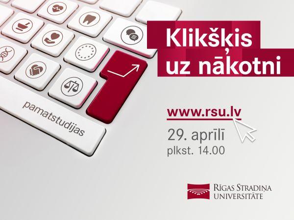 RSU virtuālā Atvērto durvju diena topošajiem studentiem – jau 29. aprīlī