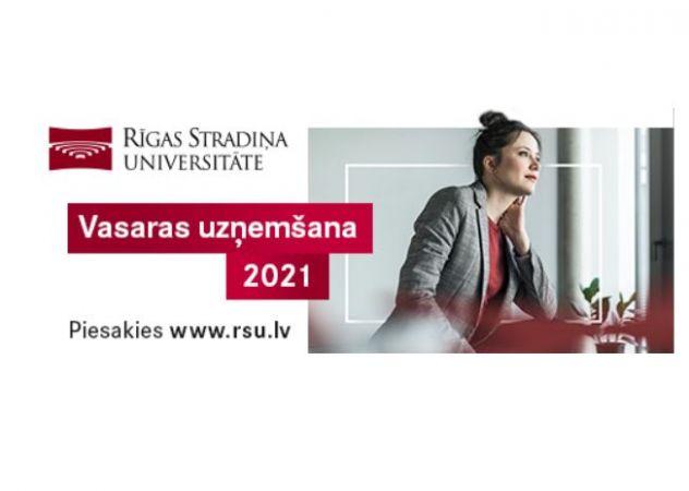 Rīgas Stradiņa universitāte sākusi vasaras uzņemšanu