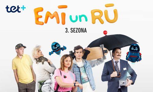 Iemīļotā bērnu seriāla Emī un Rū 3. sezona beidzot ir klāt!
