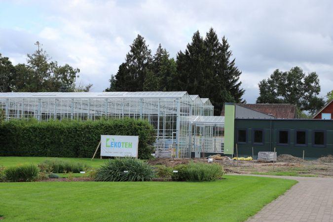 Noslēgušies Nacionālā botāniskā dārza Vides izglītības un informācijas centra būvniecības darbi