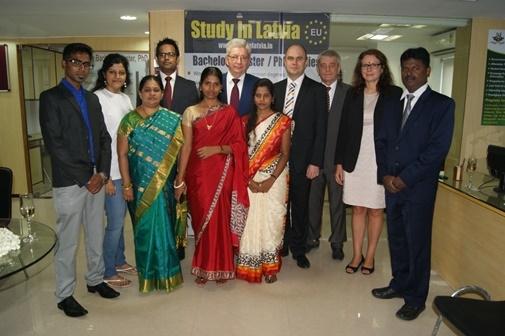 Indijā atklāts Latvijas Augstākās izglītības centrs