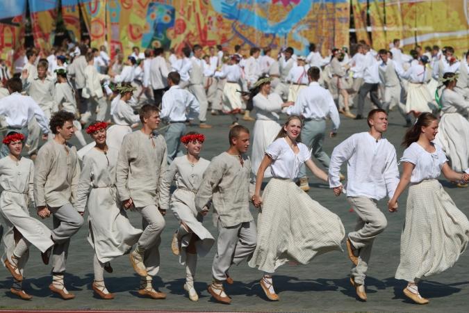 XI Latvijas skolu jaunatnes dziesmu un deju svētku pamats  - Burt(u)burvība