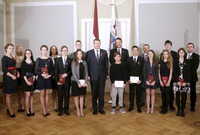 Valsts prezidents gandarīts par skolēnu vēlmi iesaistīties Latvijas attīstībā